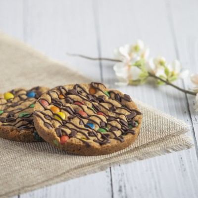 Peanut Butter Cookie With Choco-chip And M & M In a Box(100gms)
