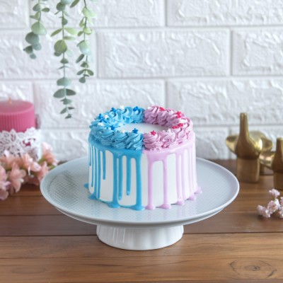 Pink and Blue Frosting Cake 750gms