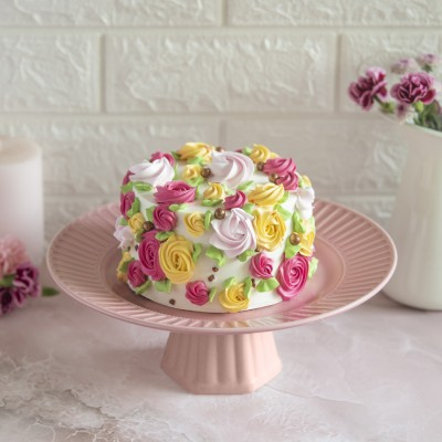 yellow-pink-and-red-floral-chocolate-cake-850gms