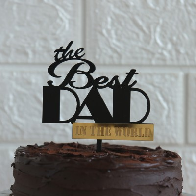 The Best DAD in the world topper