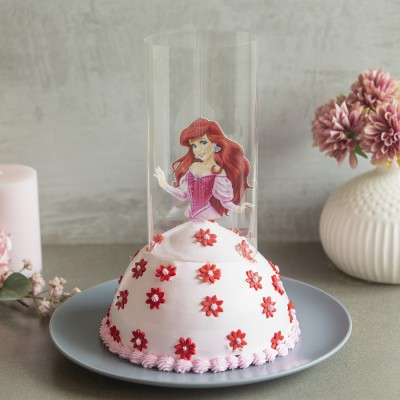 Ariel in Pink Dress Pull Me up Cake 1kg
