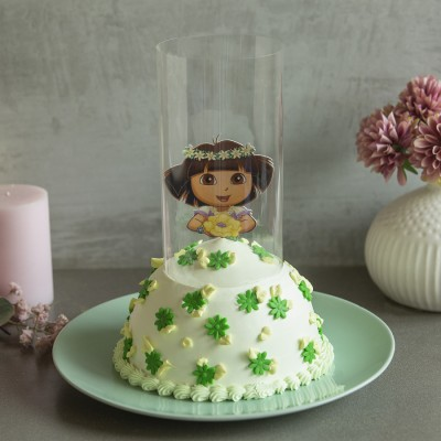 Dora in Green Dress Pull Me Pup Cake 750gms