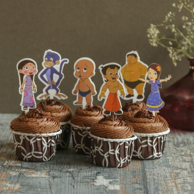 Chocolate Cup Cakes with Chota bheem toppers