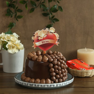 Nutties Overloaded Chocolate cake 900gms with With Love topper