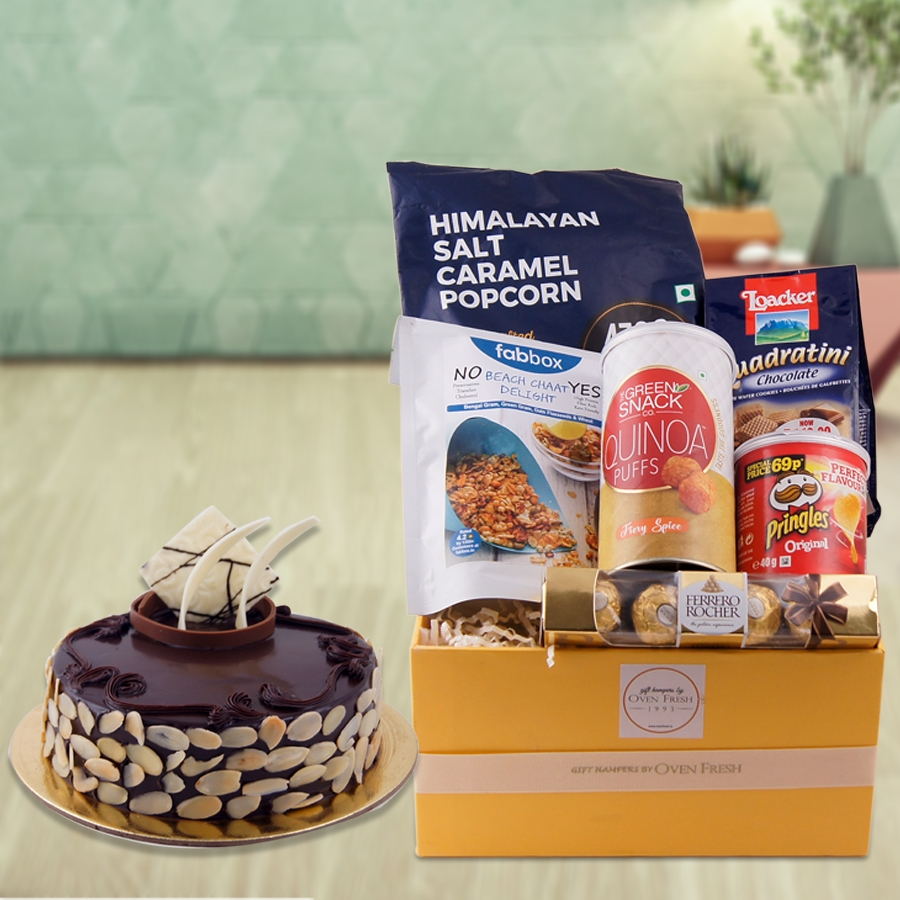 The Dutch Truffle Cake with Almonds  Combo - GHC009