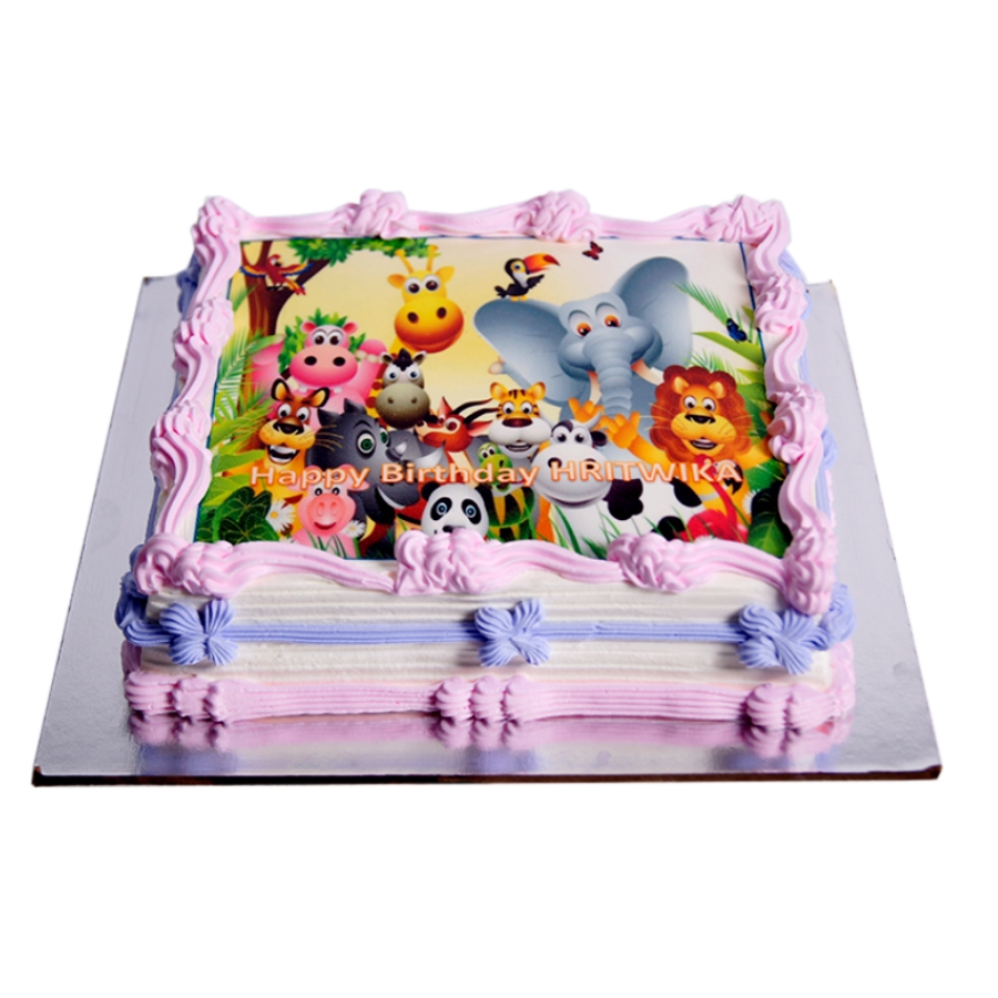 Jungle photo cake 1kg (Eggless )