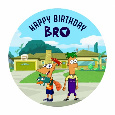Phineas And Ferb Photo Cake 500gms