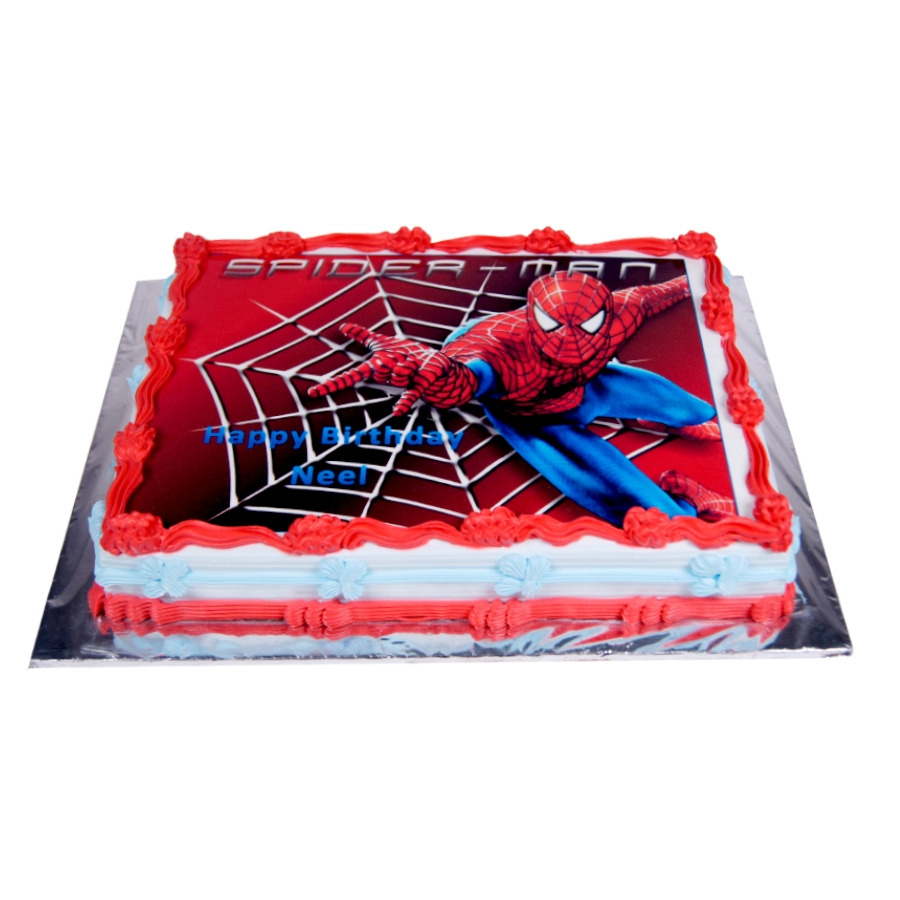 Spiderman web cake 1kg Eggless