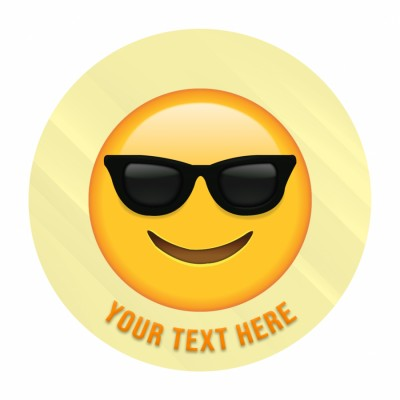 Smiling Face With Sunglass Emoji Face Photo Cake 500gms
