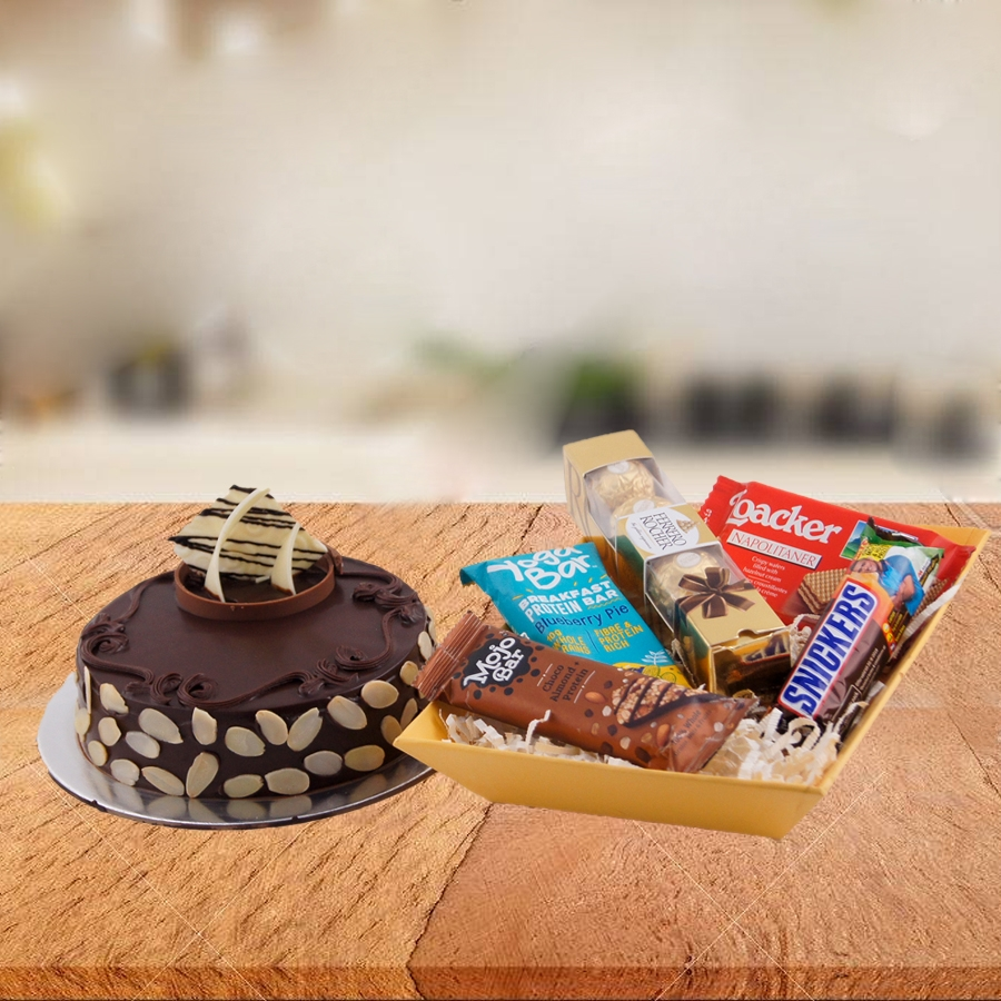 The Dutch Truffle Cake with Almonds Combo - GHC007