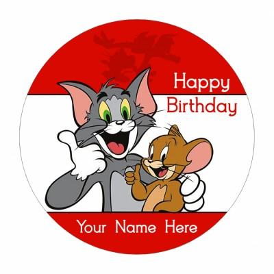 Tom And Jerry Photo Cake 500gms